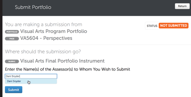 Step 2: Select the Assessor to Whom You Wish to Submit