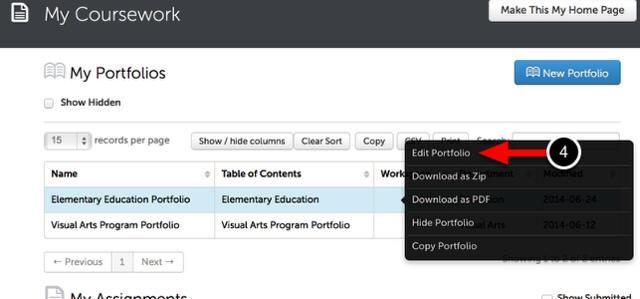 Step 2: Access the Portfolio