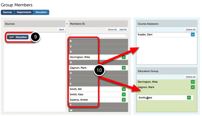 Step 4: Add Members to Course Group