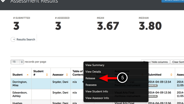 Step 3: Release Individual Results