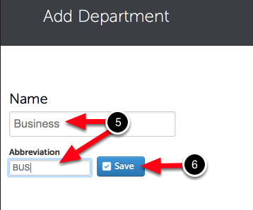 Step 3: Save Department