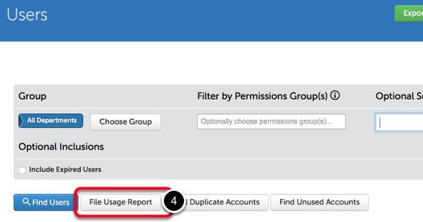 Step 2: Start File Usage Report