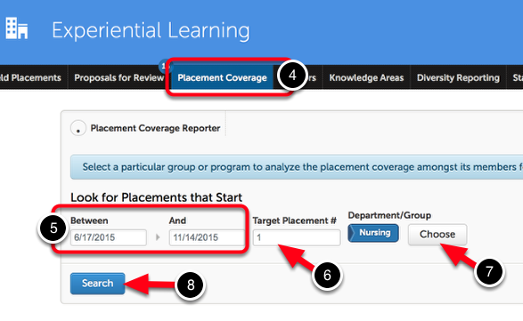 Step 2: Run a Placement Coverage Report