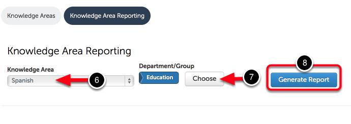 Step 3: Run Knowledge Area Report
