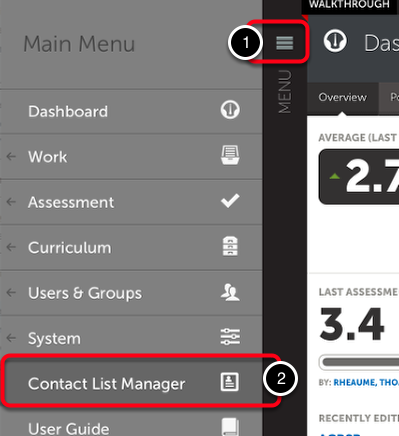 Access the Contact List Manager