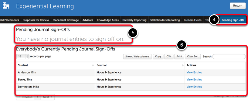 Step 2: View Pending Sign-Offs