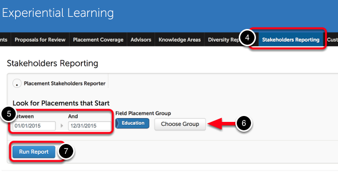 Step 2: Run a Stakeholders Report
