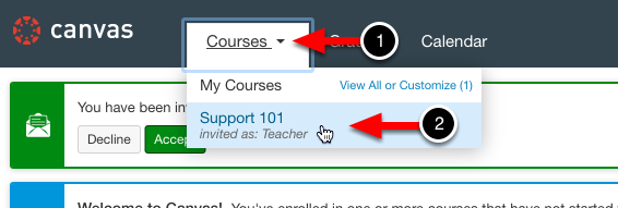 Step 1: Access the Appropriate Course