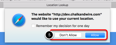 Step 3: Allow or Disallow Location Services