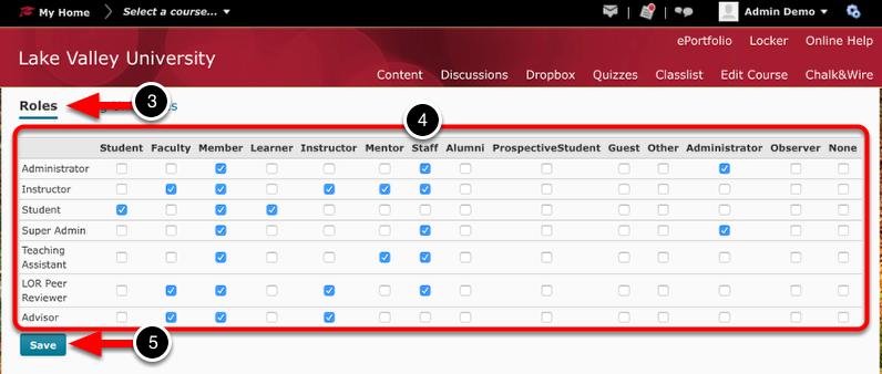 Step 2: Confirm/Configure Roles