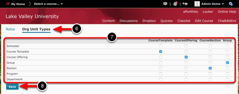 Step 3: Confirm/Configure Org Unit Types