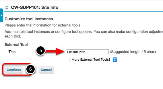 Step 2: Name the External Tool