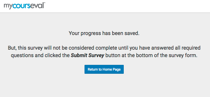 Progress Save confirmation