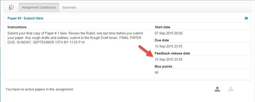 Verify the Feedback release date