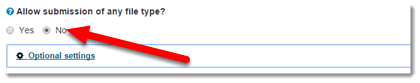 Click your choice in Do not allow submission of any type in order to receive Similarity Reports