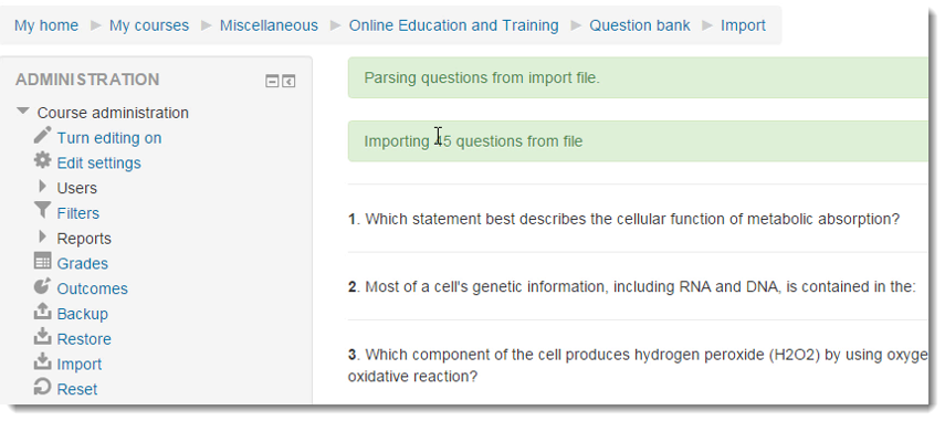 Review the questions