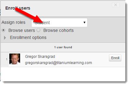 Click on the Assign roles drop down menu.