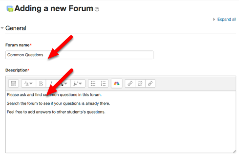 Give your forum a name and a description.