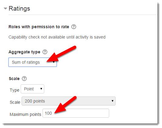 Select Ratings options.