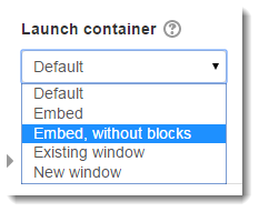 Select Embed, without blocks.