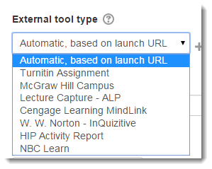 View the list of available external tools.