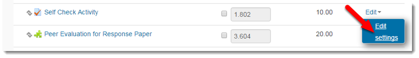 Select Edit settings.
