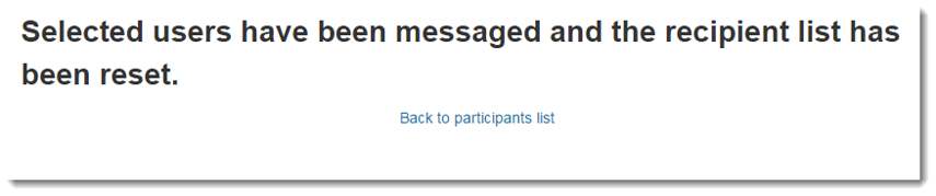 View the confirmation of message having been sent.
