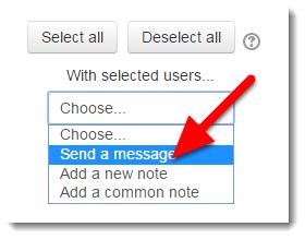 Select Send a message.