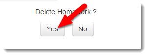 Click on Yes to delete the Grade item.
