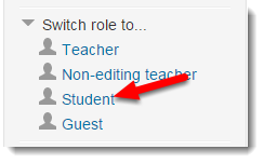 Expand Switch role to....