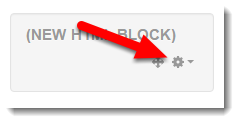 Click on the cog wheel of the NEW HTML BLOCK.