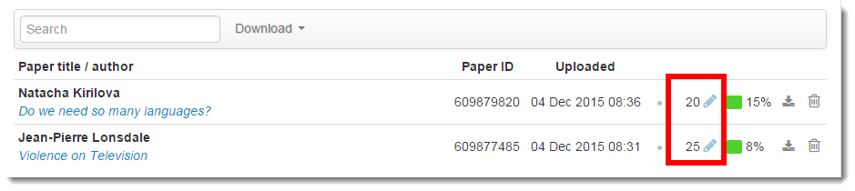 The Assignment Inbox will now display the grades.