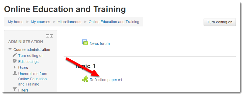 Click on the Turnitin assignment link in your course.png