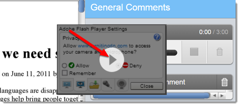 Click on the play icon.