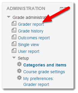 Click on Grader report.