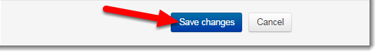Click on Save changes.