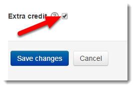 Tick the Extra credit check box.
