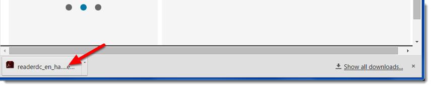 The installer program will download.