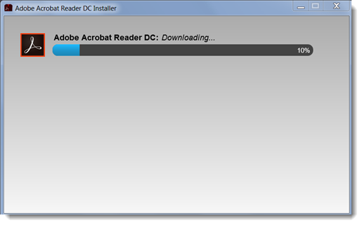 The program will download and install.