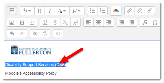 Select the text for hyperlinking.