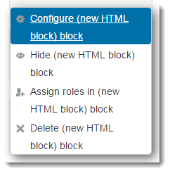 Click on Configure block.