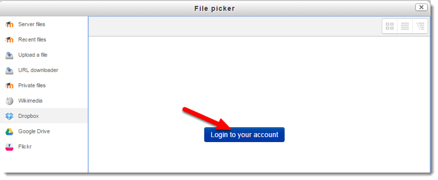 Click on Login to your account.