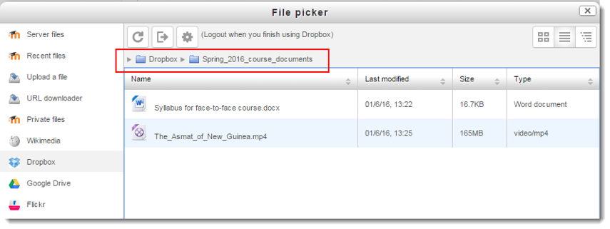 Navigate to where the file is you want to link.