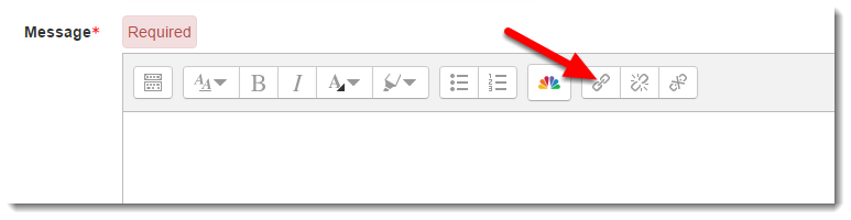 Click on the Hyperlink icon.