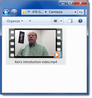 The produced MP4 video file can now be uploaded to your course.