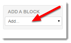 Scroll down the page to the Add a block tool.