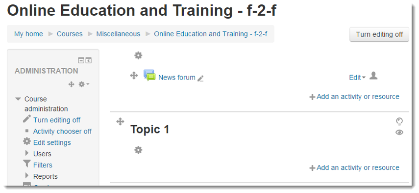 The Student Online Readiness module is now at the bottom of the course.