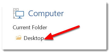 Choose the location on your computer (or elsewhere).