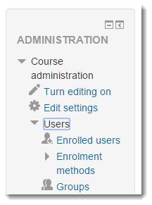 Click on Enrolment methods.