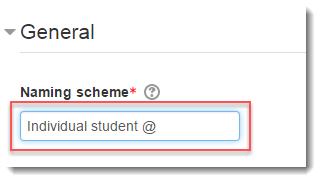 Change the naming scheme if desired.